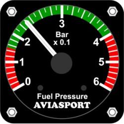 AVIASPORT IM-567 Tlakoměr paliva pro ROTAX 912